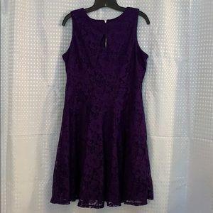 Danny and Nicole Purple Lace dress 12